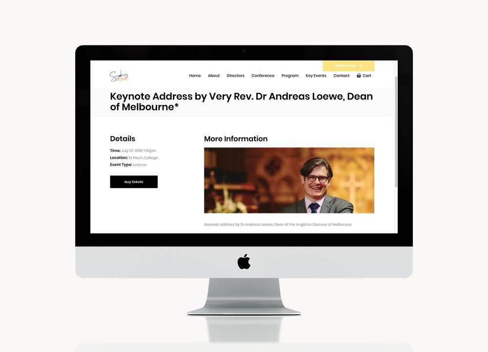 Sydney Inspires 2019 website